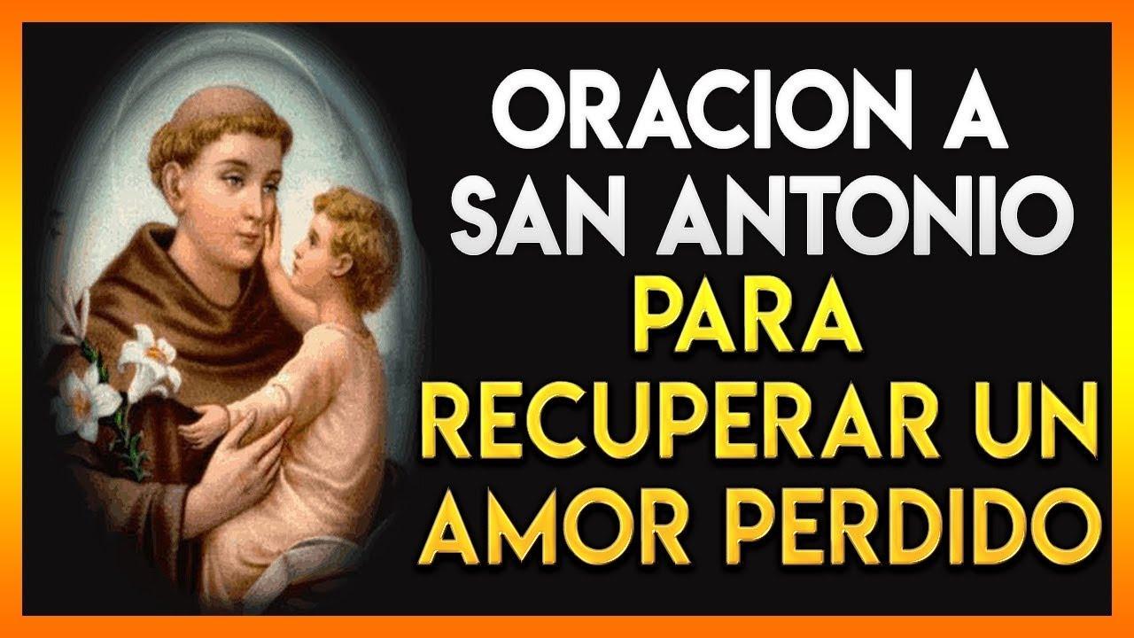 oración a San Antonio para recuperar un amor