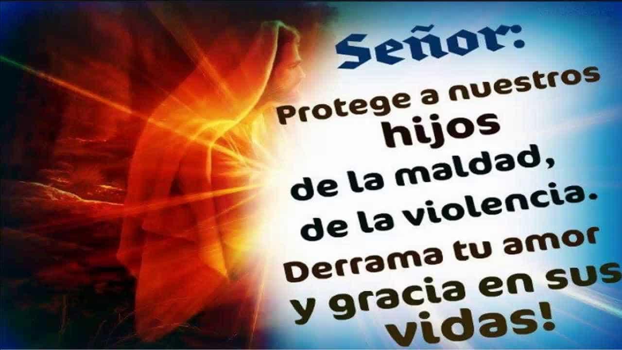 oración de protección para los hijos