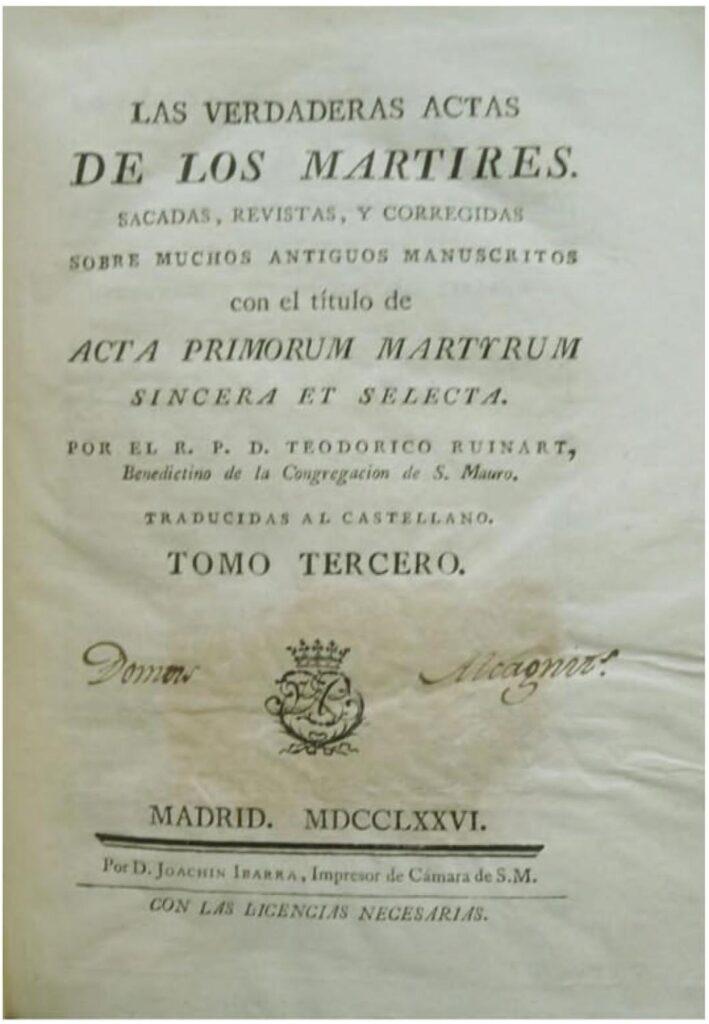 ACTA DE LOS MÁRTIRES